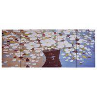 vidaXL seinamaalikomplekt lõuendil, lilled vaasis värviline, 150x60 cm