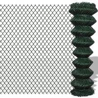 vidaXL võrkaed, teras, 1,5 x 25 m, roheline