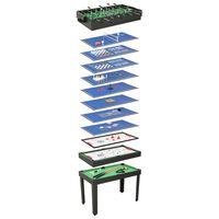 vidaXL 15 ühes mitme mängu laud 121 x 61 x 82 cm, must