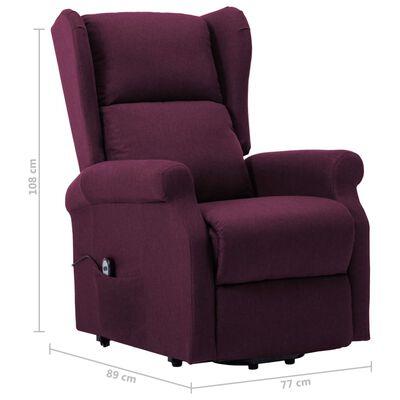 vidaXL püstitõusmist toetav tool, lilla, kangas