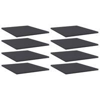 vidaXL riiuliplaadid 8 tk, hall, 40x50x1,5 cm, puitlaastplaat