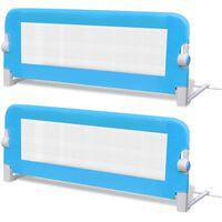 vidaXL voodiäär väikelapse voodile, 2 tk, 102 x 42 cm, sinine