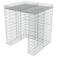 vidaXL gabioonsein prügikastile, tsingitud teras, 110 x 100 x 130 cm