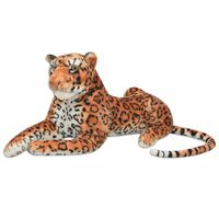 vidaXL pehme mänguasi leopard, plüüs, pruun XXL