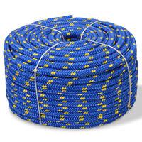 vidaXL paadiköis polürpopüleenist 12 mm, 50 m, sinine