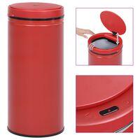 vidaXL automaatanduriga prügikast 80 l süsinikteras, punane
