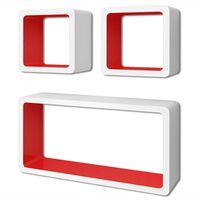 vidaXL kuubikukujulised riiulid, 6 tk, valge ja punane