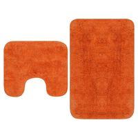 vidaXL 2-osaline vannitoamattide komplekt, kangas, oranž