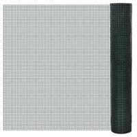 vidaXL kanade traataed tsingutud PVC kattega 10 x 1 m, roheline