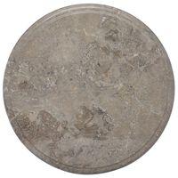 vidaXL lauaplaat, hall, Ø 40 x 2,5 cm, marmor