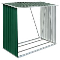 vidaXL puukuur tsingitud terasest, 163 x 83 x 154 cm, roheline