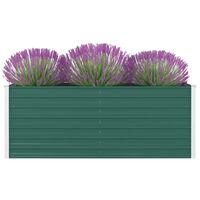 vidaXL kõrge peenrakast 160 x 80 x 45 cm, tsingitud teras, roheline
