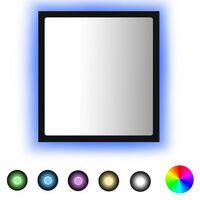 vidaXL LED vannitoa peeglikapp, must, 40 x 8,5 x 37 cm, puitlaastplaat