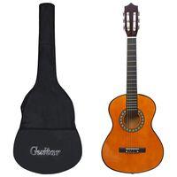 """vidaXL 8-osaline kitarrikomplekt lastele ja algajatele 1/2 34"""""""