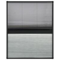 vidaXL plisseeritud putukavõrk aknale, alumiinium, 60 x 80 cm, rulooga