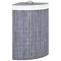 vidaXL bambusest nurga pesukorv, hall, 60 l