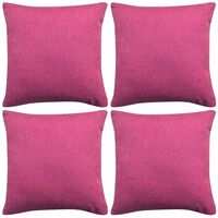 vidaXLi diivanipatjade katted 4 tk linasesarnane roosa 40 x 40 cm