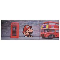 vidaXL seinamaalikomplekt lõuendil, London, värviline, 120 x 40 cm