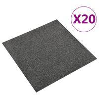 vidaXL põranda plaatvaibad 20 tk, 5 m², 50 x 50 cm, antratsiithall