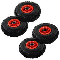 vidaXL pakikäru rattad, 4 tk, kumm 3,00–4 (245x82)