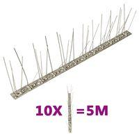 vidaXL 5-realised roostevabast terasest linnupiigid, 10 tk, 5 m