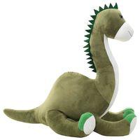 vidaXL dinosaurus brontosaurus kaisuloom, plüüs, roheline