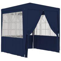 vidaXL professionaalne peotelk külgseintega, 2 x 2 m, sinine 90 g/m²