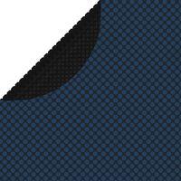 vidaXL ujuv PE ümmargune basseinikile, 417 cm, must ja sinine