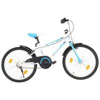 vidaXL laste jalgratas 20'', sinine ja valge