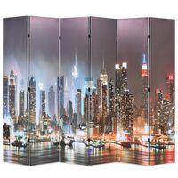 vidaXL kokkupandav sirm 228 x 170 cm, öine New York