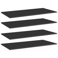 vidaXL riiuliplaadid 4 tk, must, 80x30x1,5 cm, puitlaastplaat