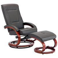 vidaXL allalastava seljatoega tool, jalapingiga, hall, kunstnahk