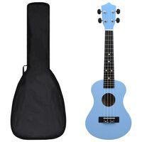 """vidaXL sopran ukulele komplekt kotiga lastele sinine 23"""""""