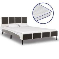 vidaXL voodi mäluvahust madratsiga, kunstnahk, 140 x 200 cm