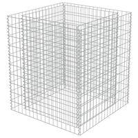 vidaXL gabioon-taimelava, tsingitud teras, 90 x 90 x 100 cm