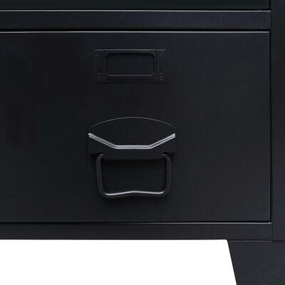 vidaXL garderoob, metallist, industriaalstiil, 67 x 35 x 107 cm, must,