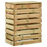 vidaXL liistudega kompostikast 80 x 50 x 100 cm, immutatud männipuit