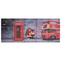 vidaXL seinamaalikomplekt lõuendil, London, värviline, 200 x 80 cm