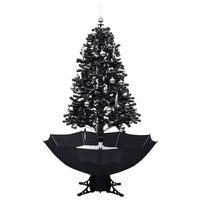 vidaXL lumesajuga jõulukuusk vihmavarjualusega must 170 cm, PVC