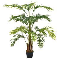 vidaXL kunsttaim palm lillepotiga, 120 cm, roheline