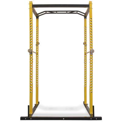 vidaXL treeningu jõujaam 140 x 145 x 214 cm, must ja kollane,