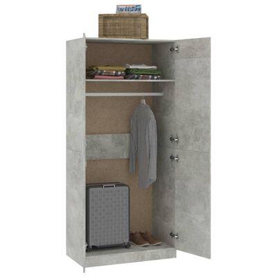 vidaXL garderoob betoonhall 90 x 52 x 200 cm puitlaastplaat, Concretegrey
