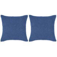 vidaXL veluurist diivanipatjade komplekt, 2 tk, 45 x 45 cm, sinine