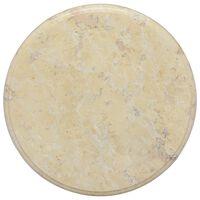 vidaXL lauaplaat, kreemjas, Ø 40 x 2,5 cm, marmor