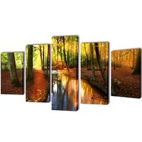 Seinamaalikomplekt lõuendil metsaga, 100 x 50 cm
