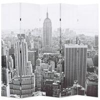 vidaXL kokkupandav sirm 200 x 170 cm, New York, must valge