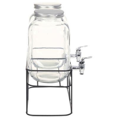vidaXL joogiserveerimisnõu 2 tk alusega 2 x 4 l klaas,