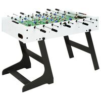 vidaXL kokkupandav lauajalgpallilaud 121 x 61 x 80 cm, valge
