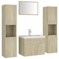 vidaXL vannitoamööblikomplekt, Sonoma tamm, puitlaastplaat