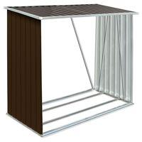 vidaXL puukuur tsingitud terasest, 163 x 83 x 154 cm, pruun